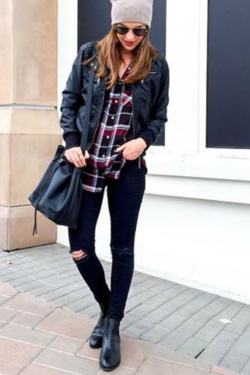 Flannel Motorcycle Jacket