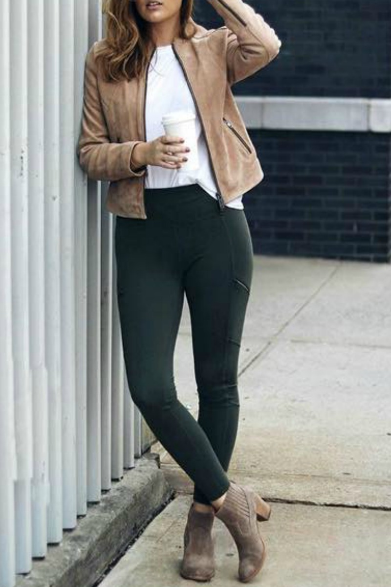 fall,winter,outfit,ideas,casual,leggings,ankle,boots , Damn